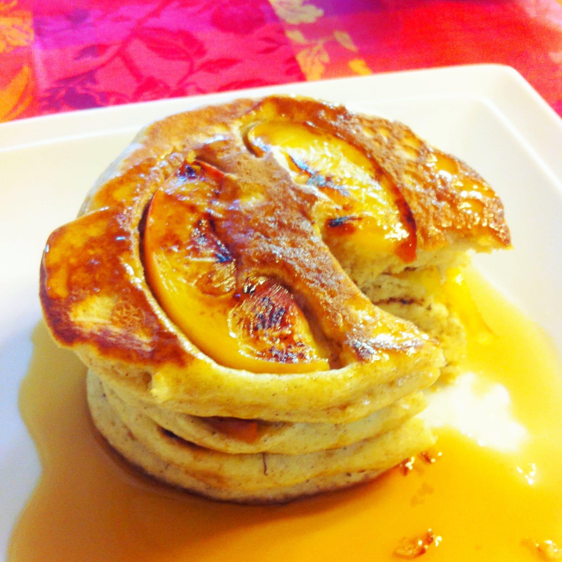 hotcakes de durazno_kiwiblog