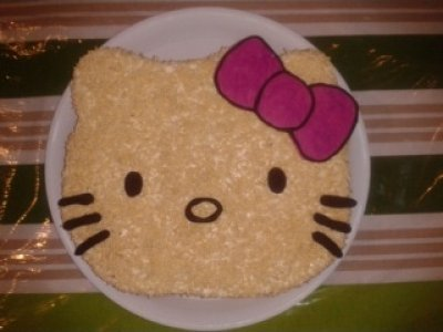 Receta de Kitty de Chocolate Blanco y Rompope