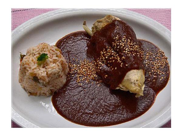 Mole de Pollo Mexicano Mole de Pollo en Tortillas de