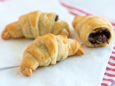 Receta de Croissants con Chocolate