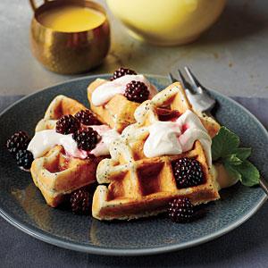 Waffles con zarzamora
