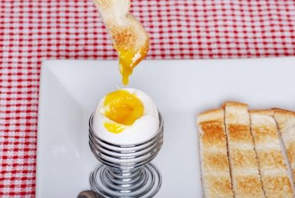 Huevos tibios en su punto