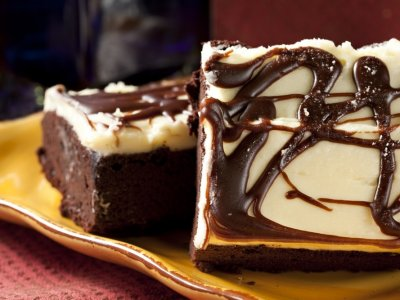 Brownies con Chocolate Blanco