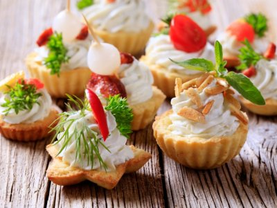 Canapes de Blue Cheese y Nuez
