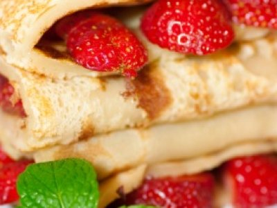Receta de Crepas Light con Fresas y Queso