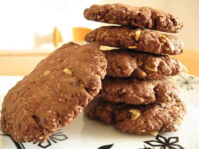 Receta de Galletas de Avena con Chocolate y Nueces