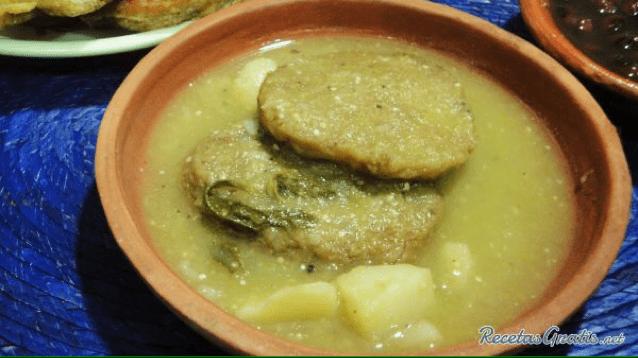 receta de tortitas en chile verde