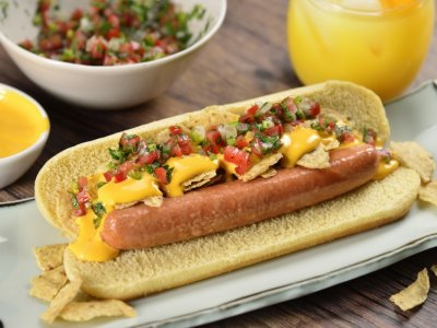 Receta de Hot Dog con Nachos