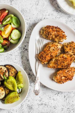 4 opciones para empanizar saludablemente los alimentos