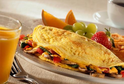 como hacer un omelet saludable