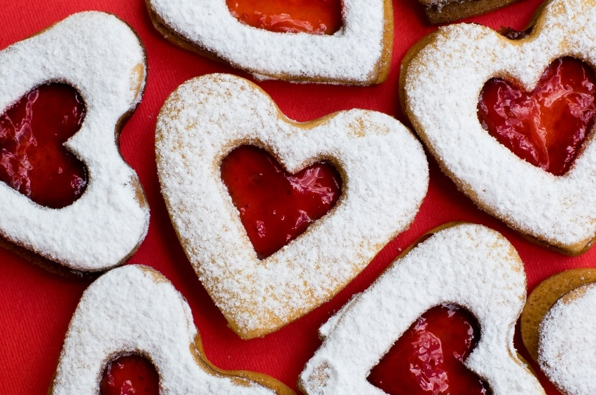 Recetas galletas de mermelada - Postre para san valentin ...
