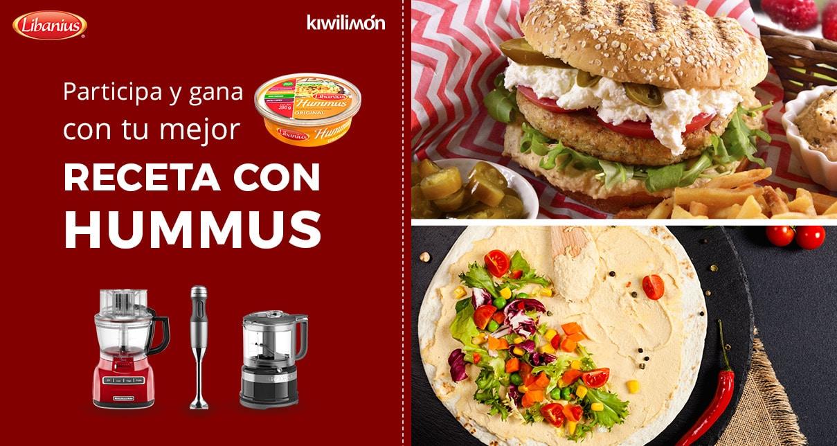 !Sube tu Mejor Receta con Hummus!