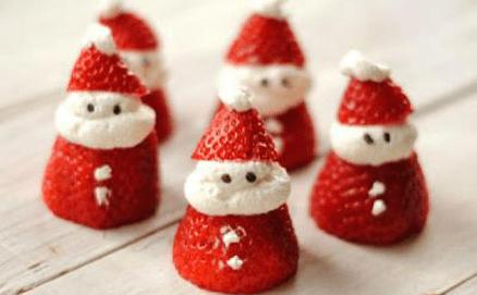 Fresas en Forma de Santa