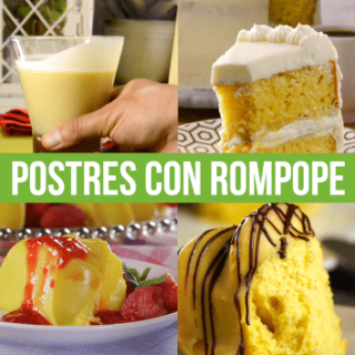Postres con Rompope