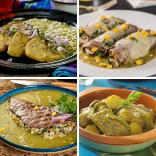 Recipes with green sauce