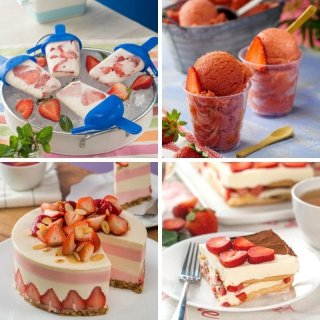 Amazing desserts with strawberries
