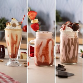3 Strawberry Milkshakes
