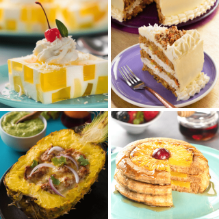 4 recipes with pineapple