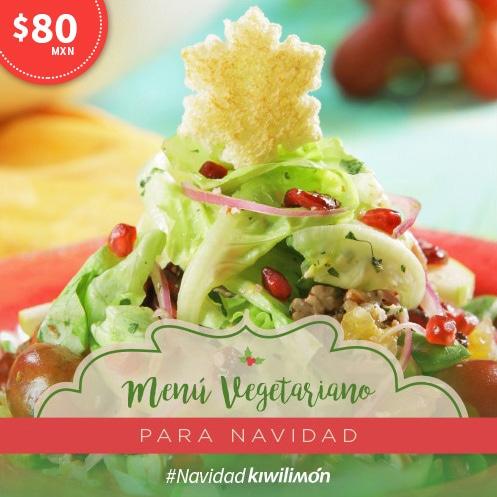 Menú Vegetariano para Navidad
