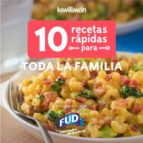 10 Recetas rápidas para toda la familia