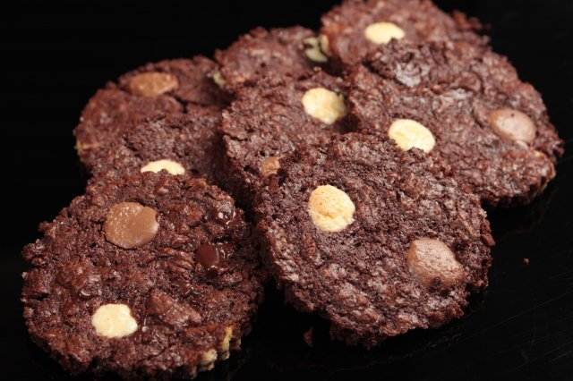 Delirantes Galletas de Triple Chocolate