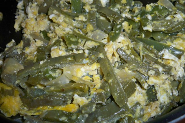 Nopales with Egg