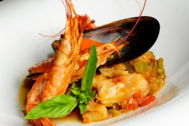 Cataplana of Cod and Shrimp