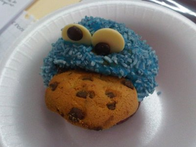 Receta de Cupcakes de Cookie Monster