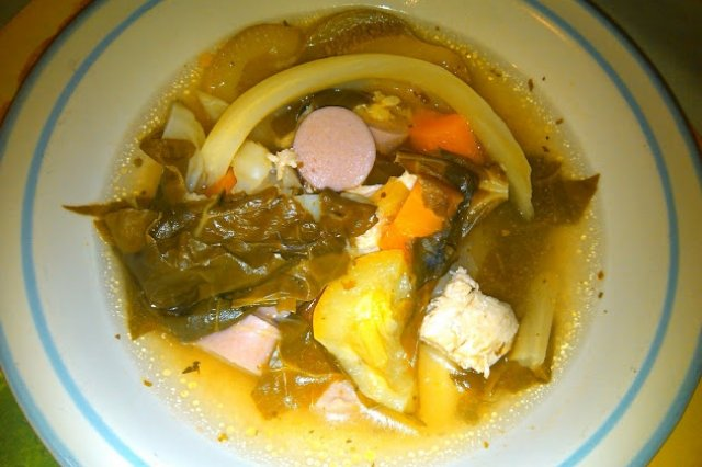 Vegetable Soup with Chicken and Turkey Sausage