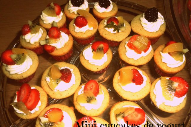 Mini Cupcakes de Yogurt