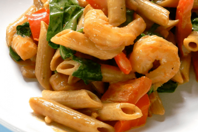 Penne with Shrimp and Salsa Rosa