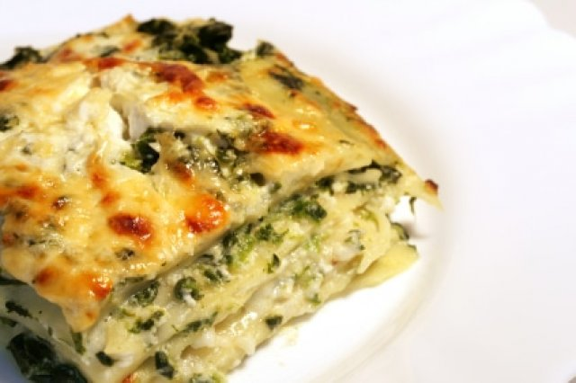 Spinach Lasagna and Ricotta Cheese