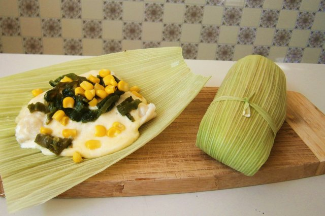 Fish in Corn Leaves