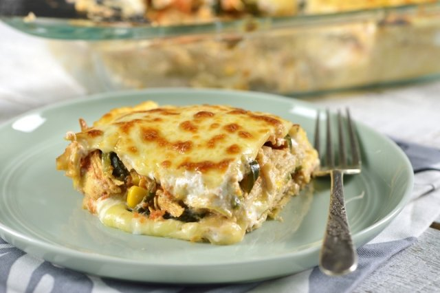 Tortilla Casserole with Chicken (Pastel Azteca)