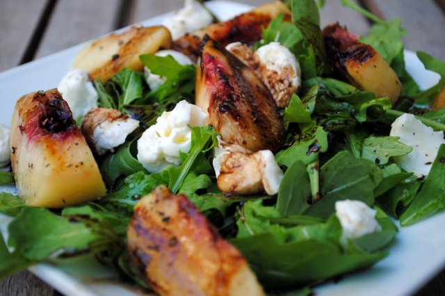Salad of Roasted Peaches and Goat Cheese