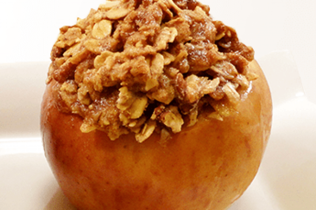 Baked Apples With Oats And Nuts