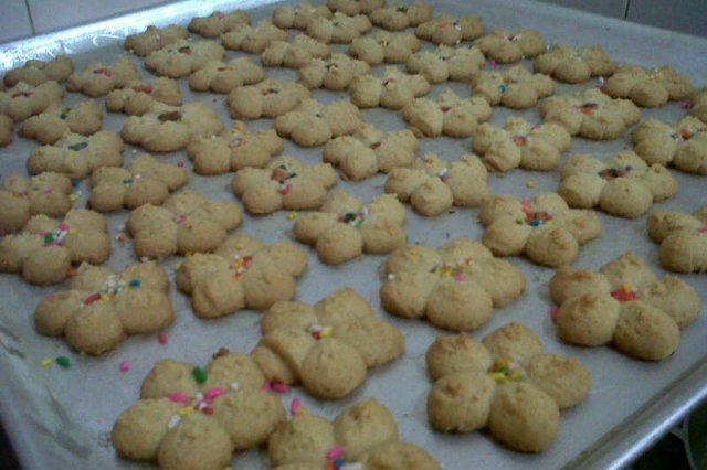 Margarine and Vanilla Cookies