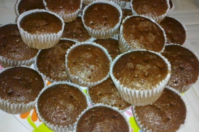 Chocolate Cupcakes and Coffee Liqueur