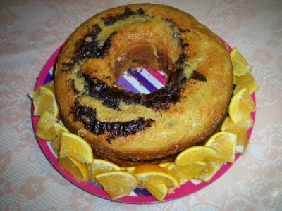 Receta de Rosca marmoleada de chocolate light