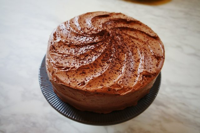 Chocolate Cake with Touches of Coffee