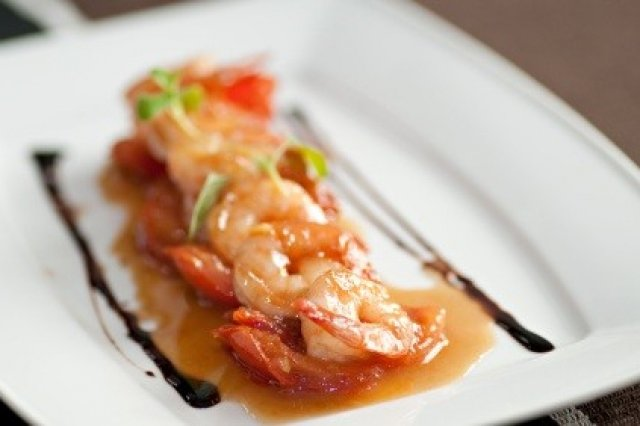 Shrimp with Chipotle Sauce, Orange and Honey