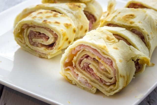 Turkey Ham Burrito with Cheese