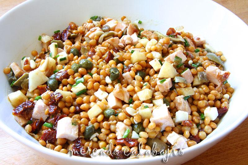 Receta de ensalada de lentejas for Cocinar lentejas con verduras