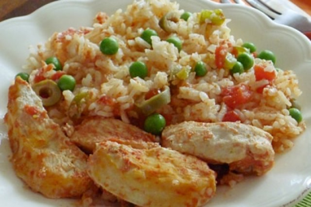 Rice with Chicken in Pressure Cooker