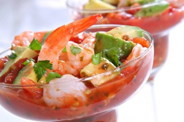 Shrimp Ceviche with Shaker Sauce