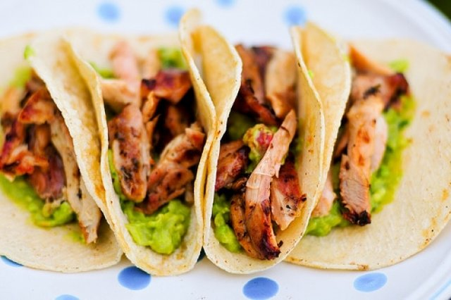 Chicken Tacos With Corn Tortilla