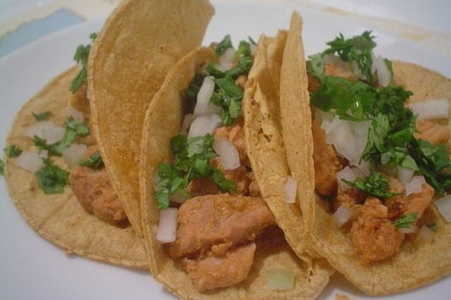 Meat Tacos in Tomato Sauce