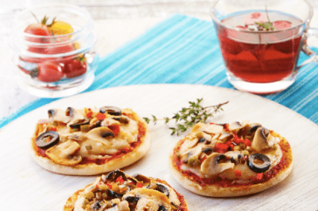 English Muffin Pizza de Vegetales