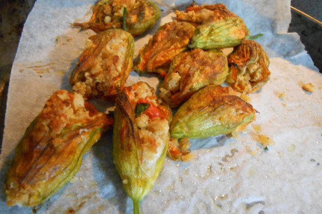 Stuffed Zucchini Flower