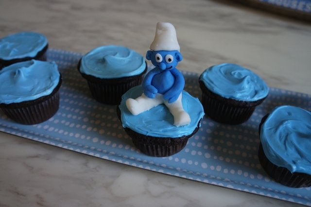 Chocolate Cupcakes of Smurfs